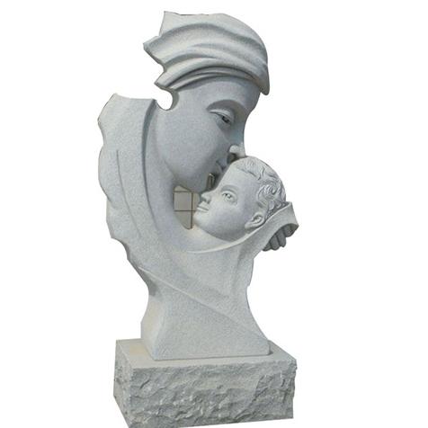 【人物雕塑1268】汉白玉抽像人物石雕像定做