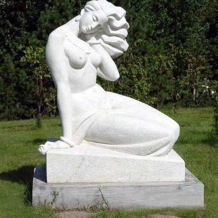 【人物雕塑1271】汉白玉抽像人物石雕像报价