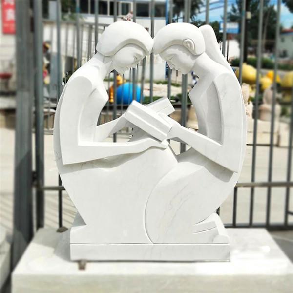 【人物雕塑1274】汉白玉抽像人物石雕像雕刻厂