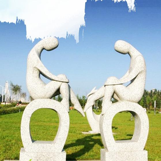 【人物雕塑1280】汉白玉抽像人物石雕像定做