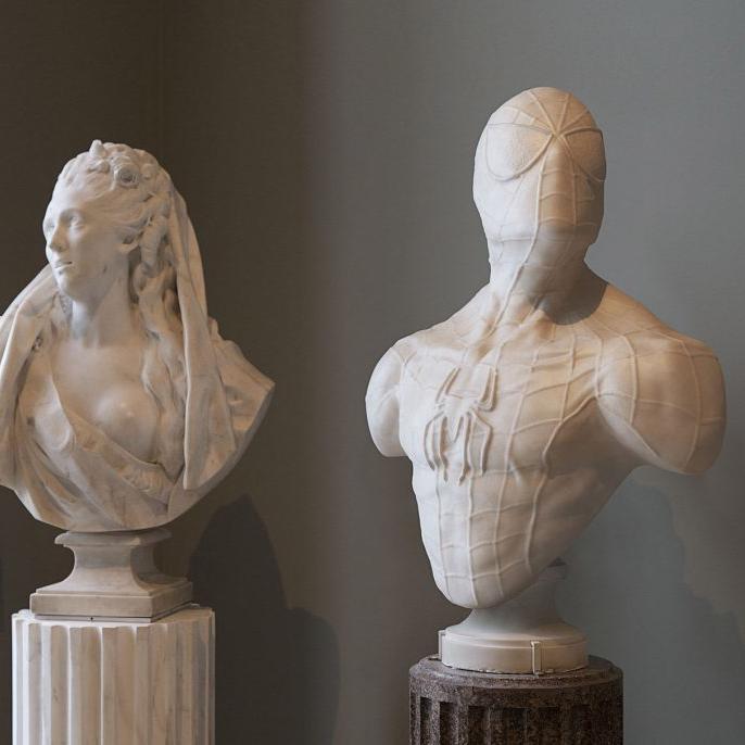 【人物雕塑1388】现代名人石雕胸像定做