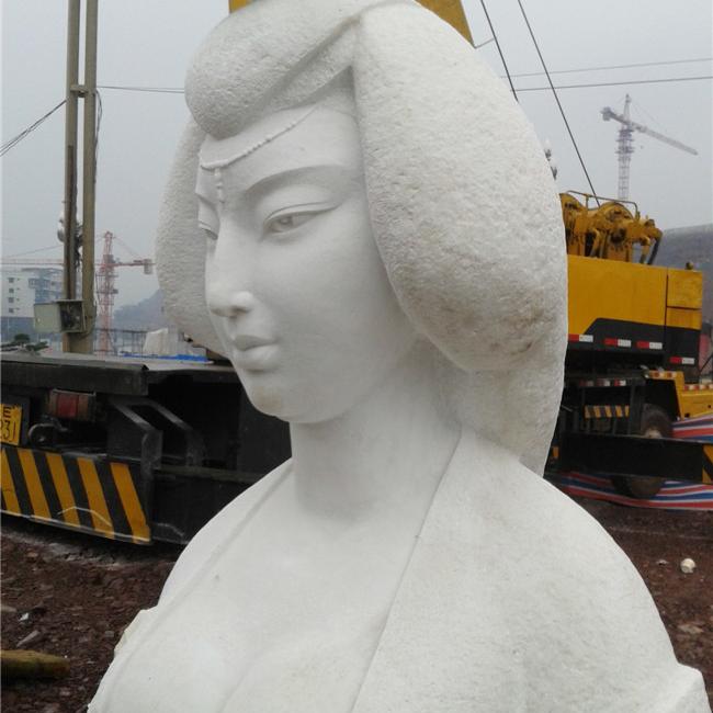 【人物雕塑1391】现代名人石雕胸像报价
