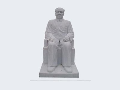 【人物雕塑1409】毛主席石雕坐像定