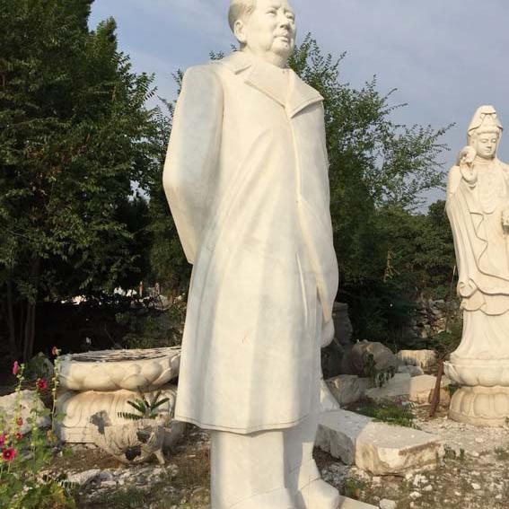 【人物雕塑1436】毛主席石雕站像定做