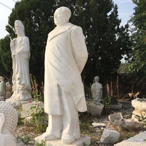 【人物雕塑1439】毛主席石雕站像报价