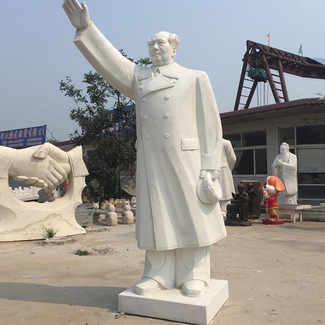 【人物雕塑1442】毛主席石雕站像雕刻厂