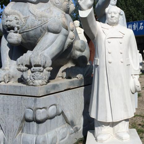 【人物雕塑1444】毛主席石雕站像批发