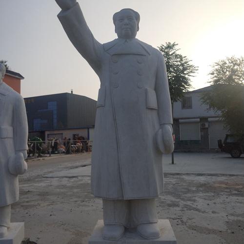 【人物雕塑1447】毛主席石雕站像厂家