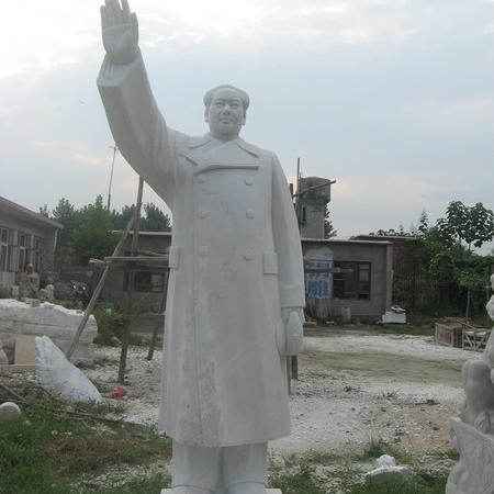 【人物雕塑1452】毛主席石雕站像价格