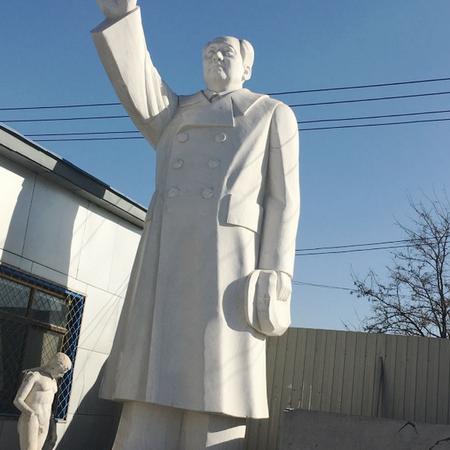 【人物雕塑1453】毛主席石雕站像多少钱