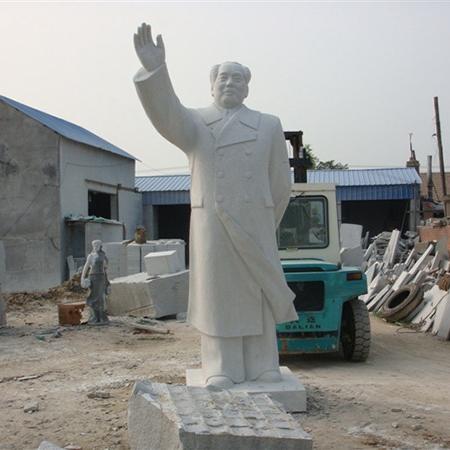 【人物雕塑1456】毛主席石雕站像批发