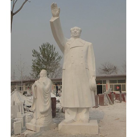 【人物雕塑1459】毛主席石雕站像厂家