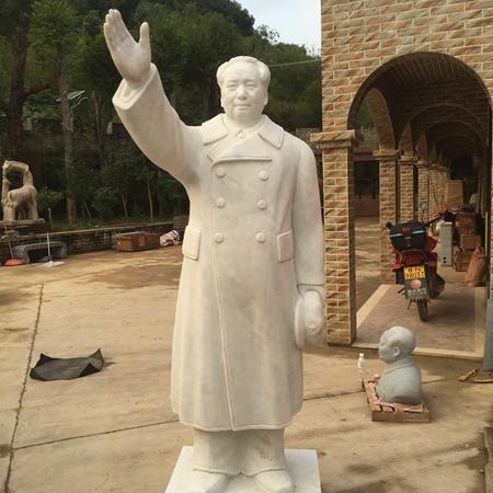 【人物雕塑1460】毛主席石雕站像定做