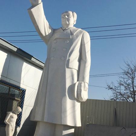 【人物雕塑1461】毛主席石雕站像哪家好