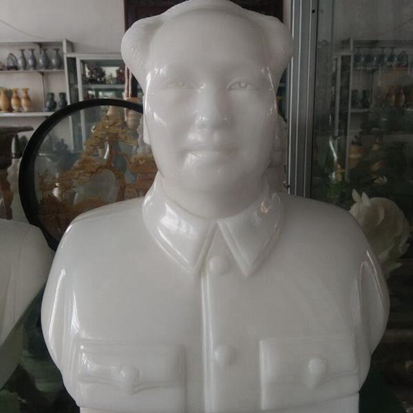 【人物雕塑1475】毛主席石雕胸像报价
