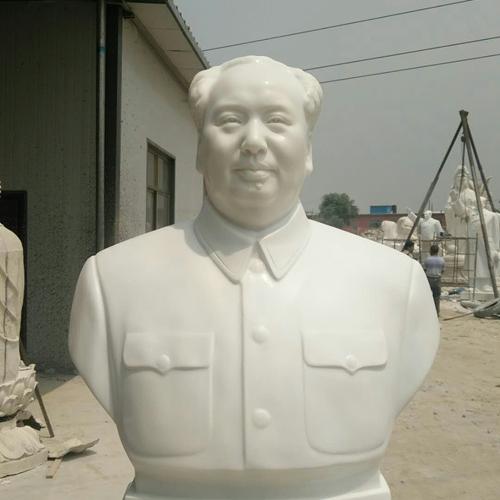 【人物雕塑1479】毛主席石雕胸像厂
