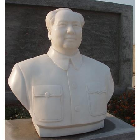 【人物雕塑1482】毛主席石雕胸像公司