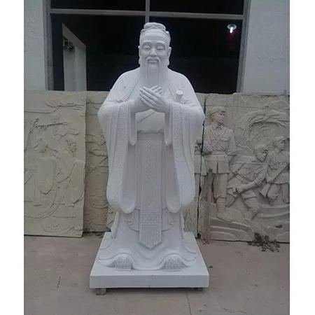 【人物雕塑1649】汉白玉石雕孔子像定制