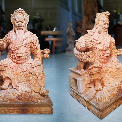 【人物雕塑1650】石雕关公像公司