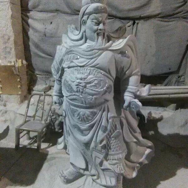 【人物雕塑1651】石雕关公像厂家
