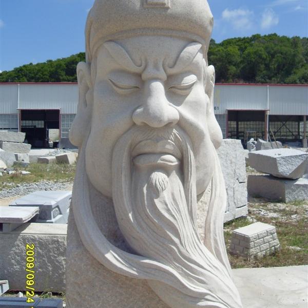 【人物雕塑1652】石雕关公像定做