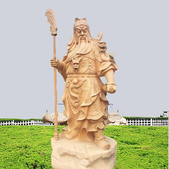 【人物雕塑1659】石雕关公像厂