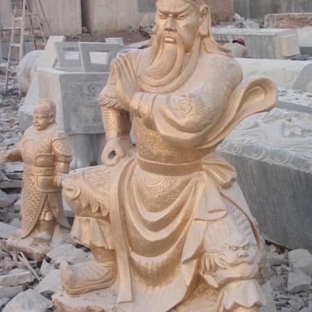 【人物雕塑1663】石雕关公像厂家