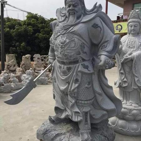 【人物雕塑1666】石雕关公像供应