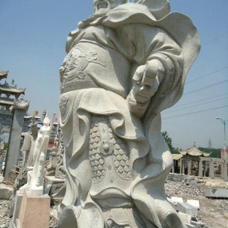 【人物雕塑1673】石雕关公像定制