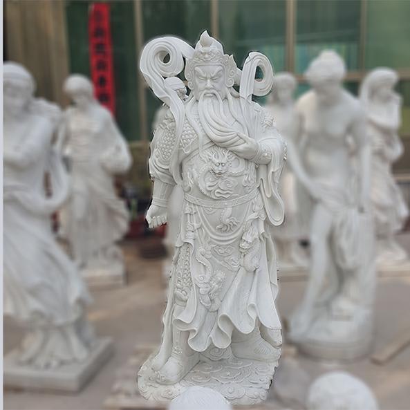 【人物雕塑1675】石雕关公像厂家