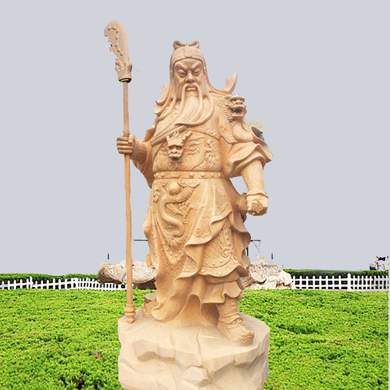 【人物雕塑1676】石雕关公像定做