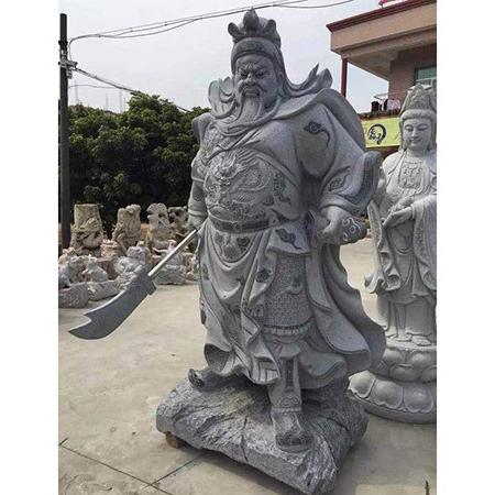 【石雕人物系列1682】石雕关公像雕刻厂