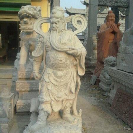 【石雕人物系列1686】石雕关公像公司