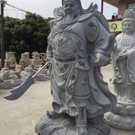 【石雕人物系列1693】石雕关公像多少钱