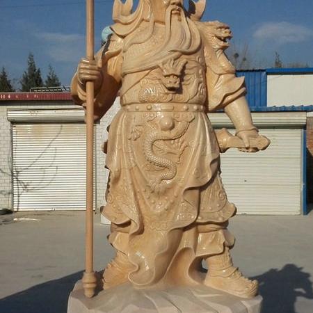 【石雕人物系列1694】石雕关公像雕刻厂