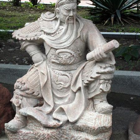 【石雕人物系列1695】石雕关公像厂