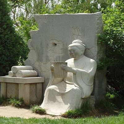 【人物雕塑1709】现代人物石雕像定制