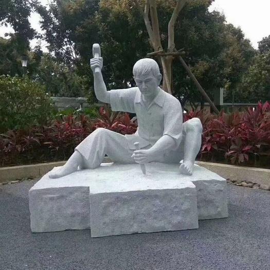 【人物雕塑1736】小品人物石雕像定做