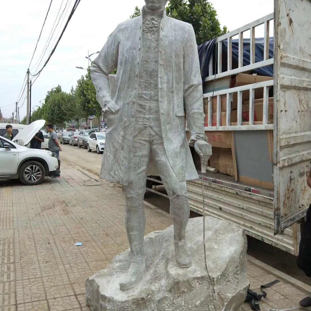 【人物雕塑2037】现代人物单体石雕像厂家