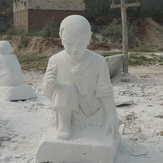 【人物雕塑2046】现代人物单体石雕像批发