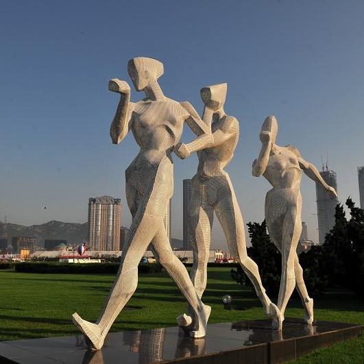 【人物雕塑2085】石雕群像厂家