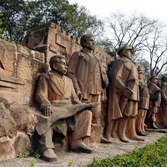 【人物雕塑2086】石雕群像定做