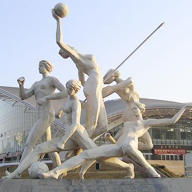 【人物雕塑2088】石雕群像供应