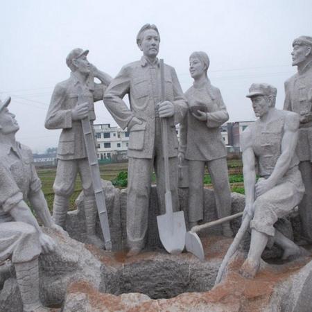 【人物雕塑2090】石雕群像价格