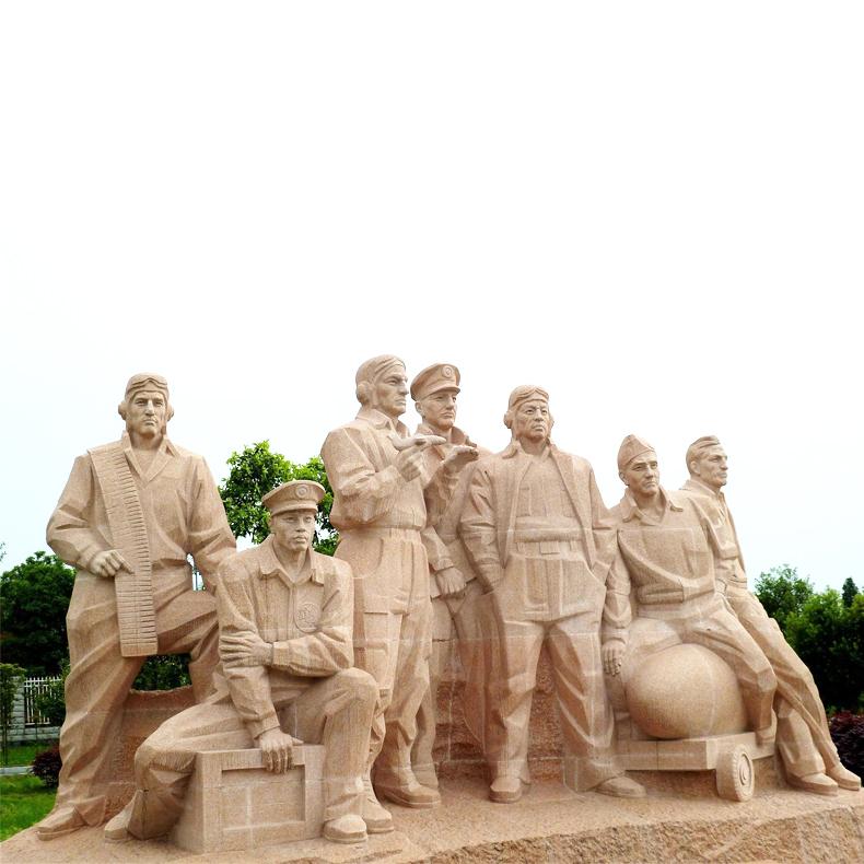 【人物雕塑2093】石雕群像厂