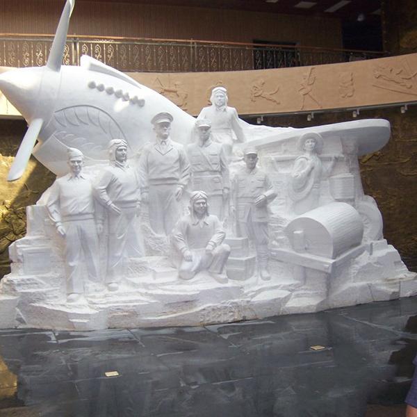【人物雕塑2097】石雕群像厂家