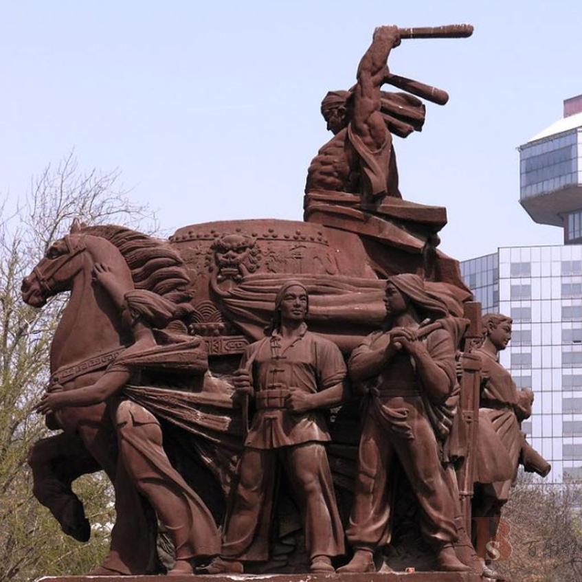 【人物雕塑2100】石雕群像供应