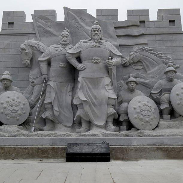 【人物雕塑2107】石雕群像定制