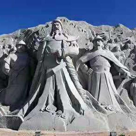 【人物雕塑2116】石雕群像雕刻厂
