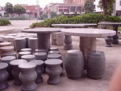 【园林景观007】石雕桌椅板凳厂家